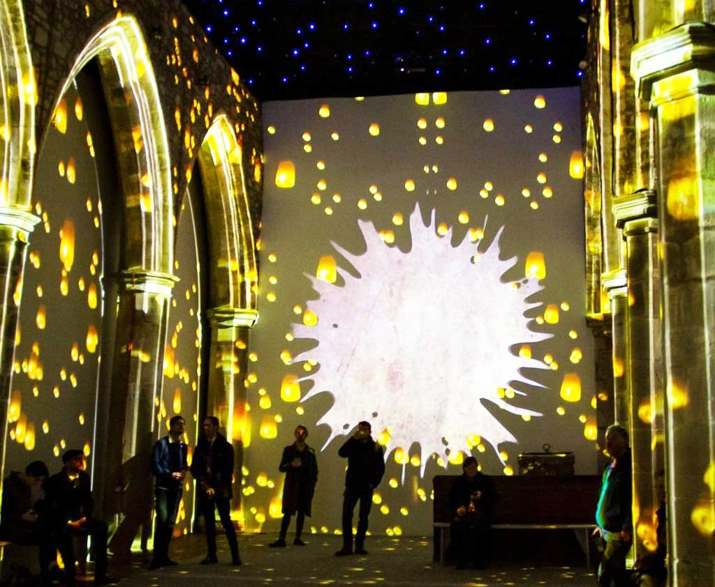 Light projections at the Van Gogh Immersive Experience.