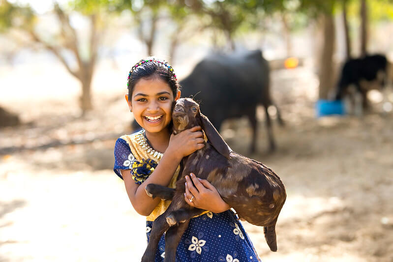 Girl making goat jokes and goat one-liners