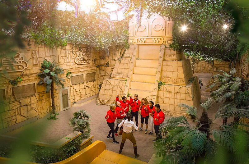 team playing crystal maze manchester