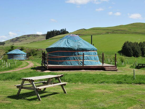 Newbury's Ettrick Valley Yurts are the best place for best family holidays Scotland