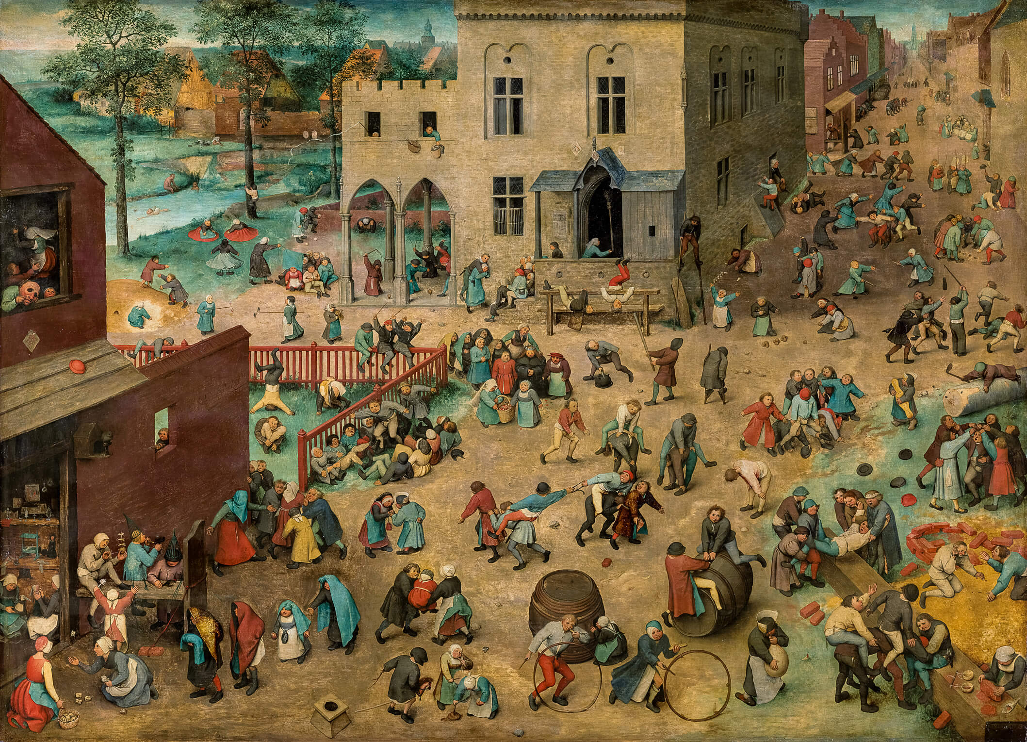 Painting from 1506 showing Tudor Children Playing Games, a good reference for Tudor Children Fact File