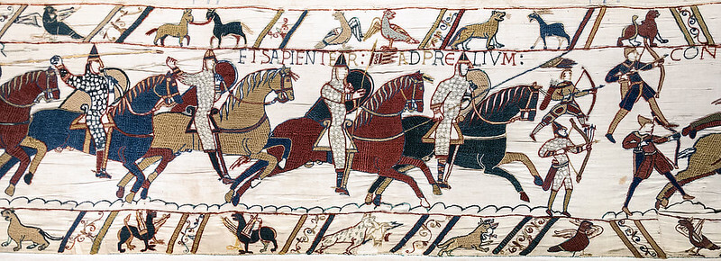 The Bayeux tapestry Depicting the Battle of Hastings to help kids