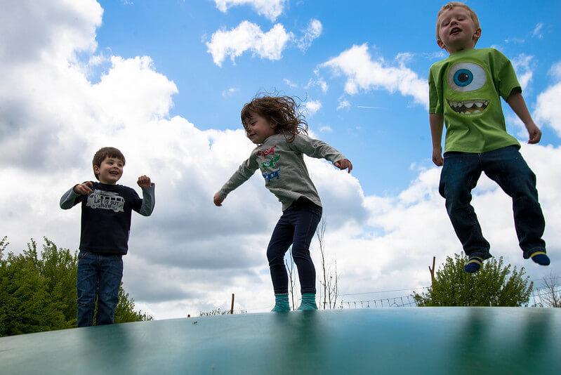 kids at hobbledown adventure park
