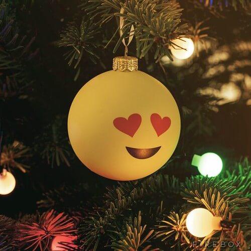 DIY Emoji Bauble for the Christmas tree, a fun Emoji Craft