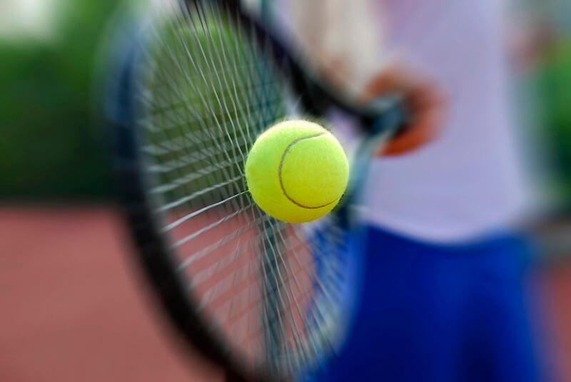 Tennis ball to inspire tennis jokes