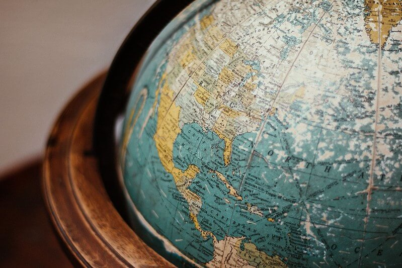 An old fashioned globe to highlight the tudor explorers