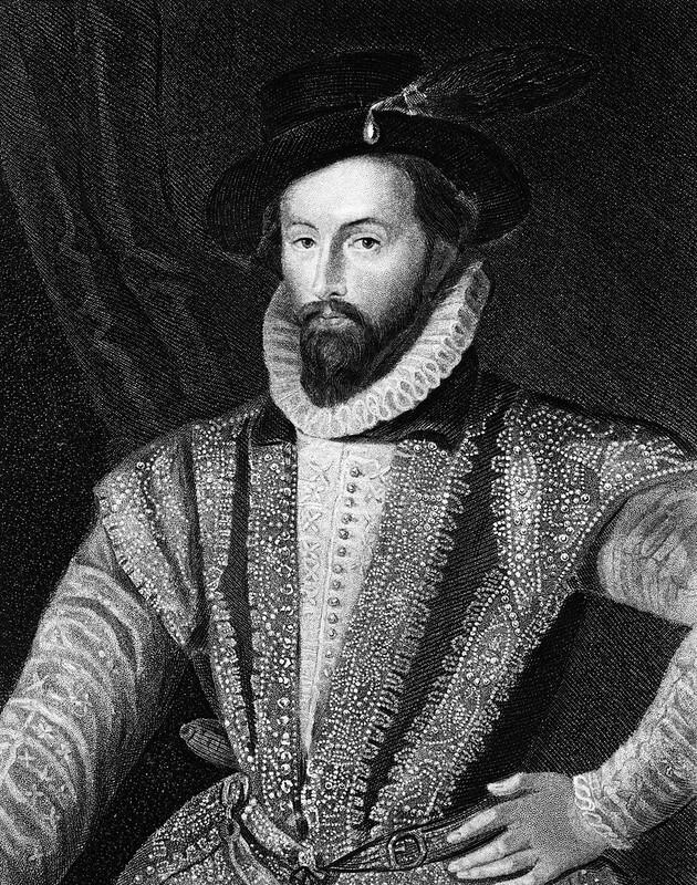 Sir Walter Raleigh, a famous Tudor explorer