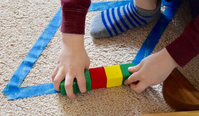 Fill in block shapes, great block activities for preschool kids