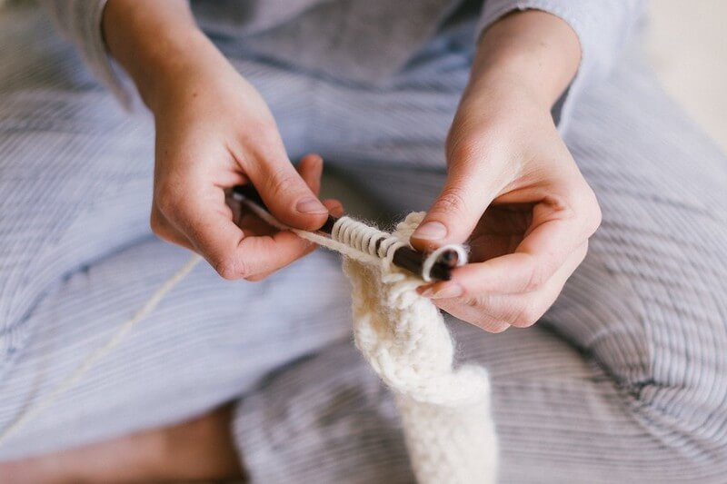 Teen knitting, a great and easy weaving and braiding activity