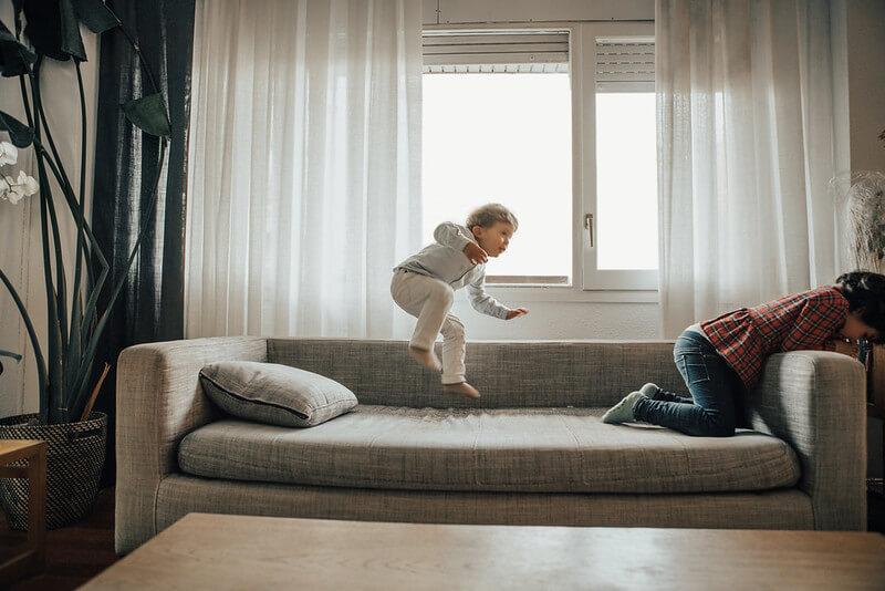 Children playing kid friendly alexa games