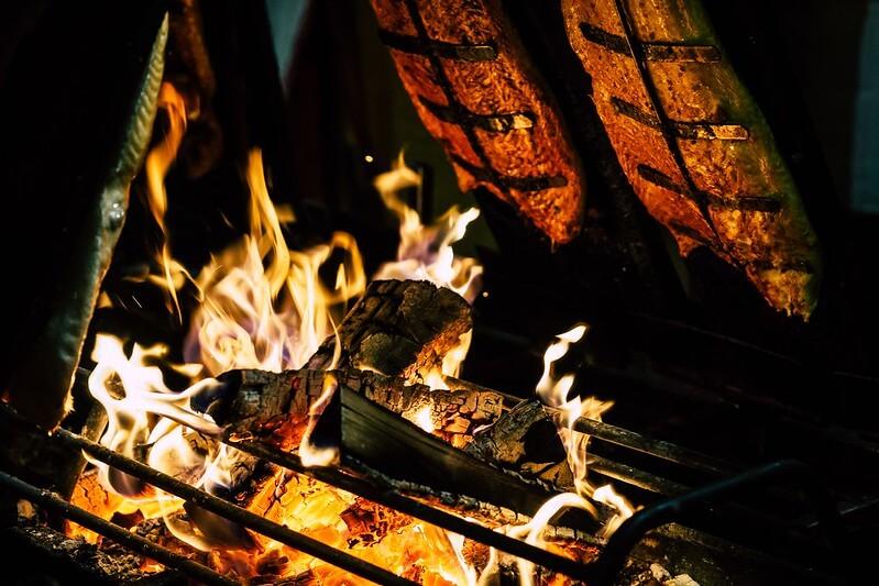 Fire to make anglo-saxon food