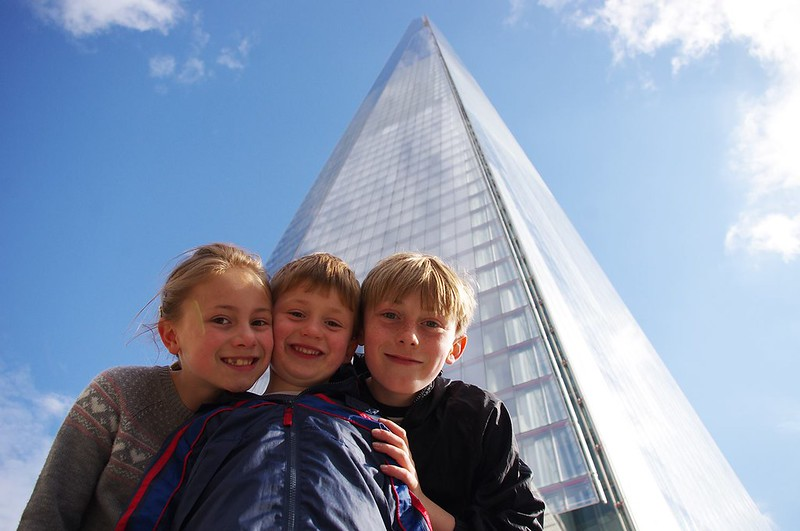 Children enjoying a day out at the Shard.