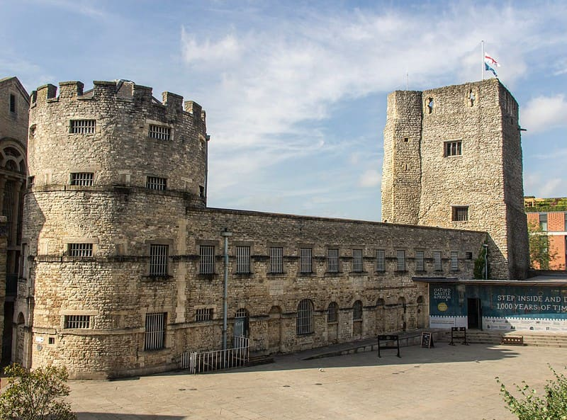 Oxford Castle is a large, partly ruined Norman medieval castle.