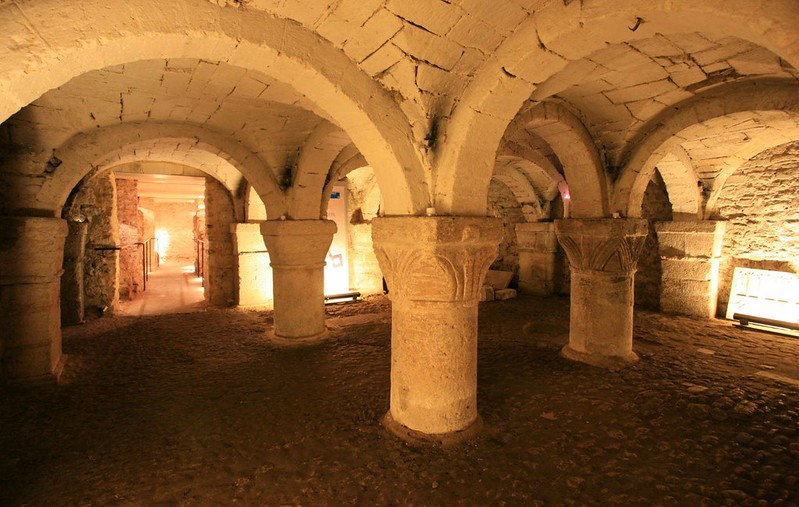The 900-year-old crypt of St. George's Tower.