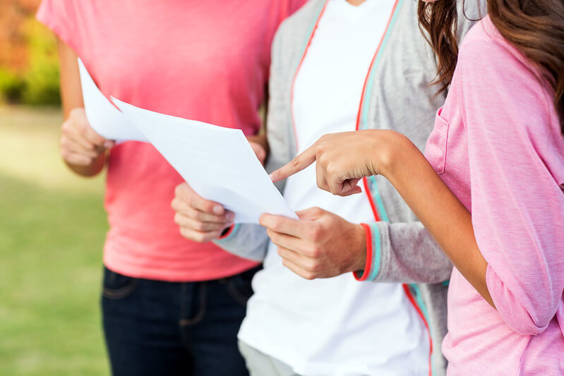 parents getting clearing help after exam results
