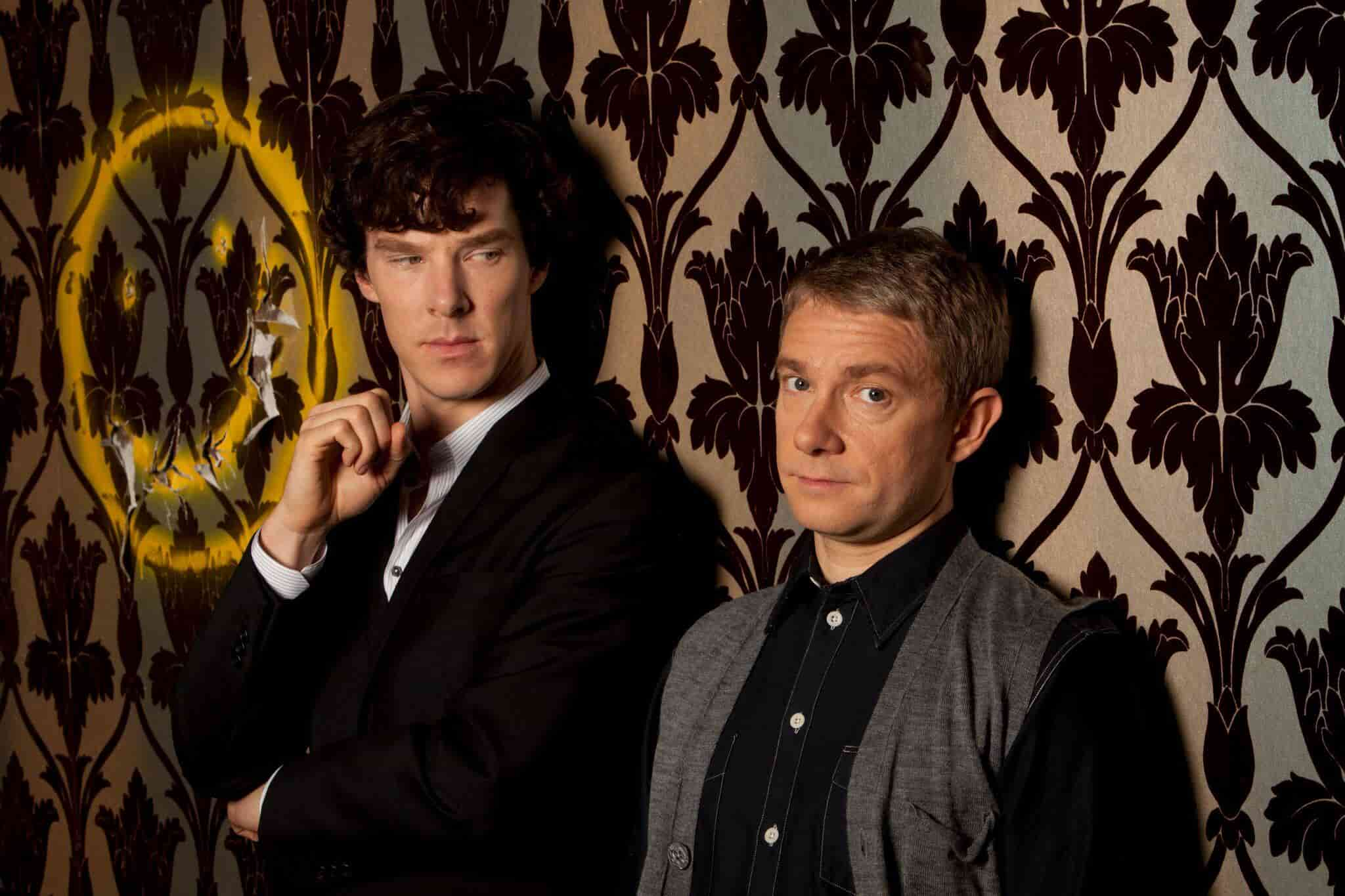 Benedict Cumberbatch and Martin Freeman in the hit show Shrelock.