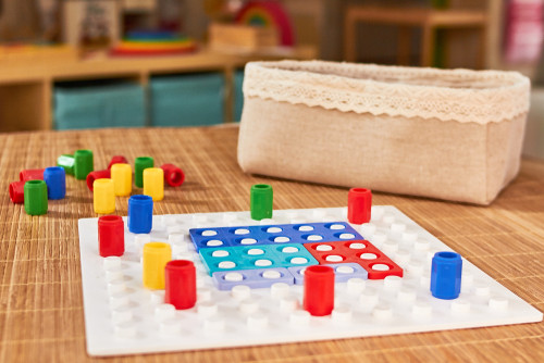 A Numicon set to help guide EYFS parents