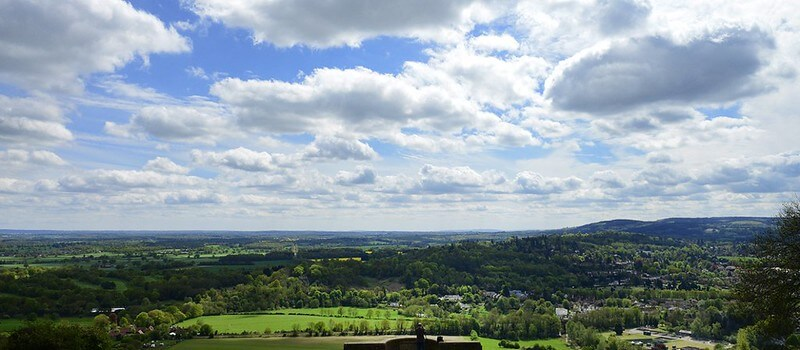view of box hill in surrey