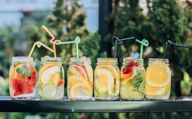 Fruit infused water for labour.