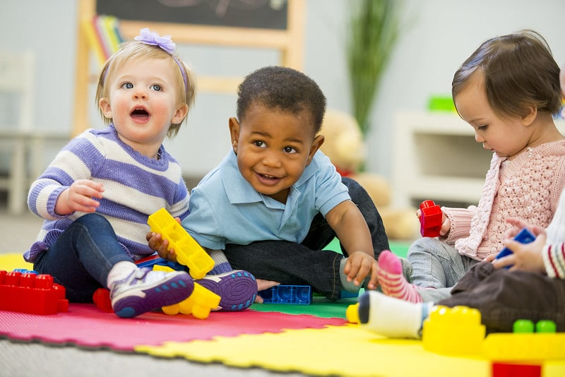 Three babies playing together could all have boys' names beginning with k.