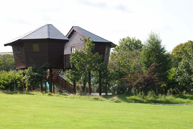 Glamping huts in Rivervalley Holiday Park, a lovely idea for family holidays in Ireland.