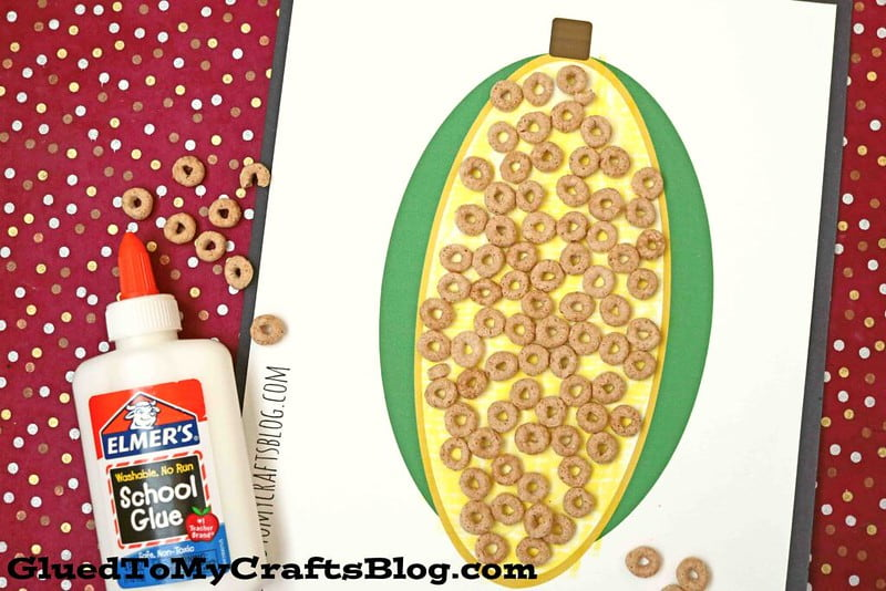 Paper cheerio sweetcorn harvest activities and crafts