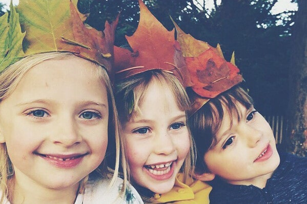 Autumn leaf crown harvest activities and crafts