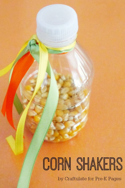 Corn music shakers harvest activities and crafts