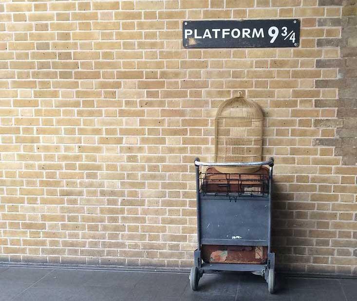 Platform 9 3/4 at Kings Cross.