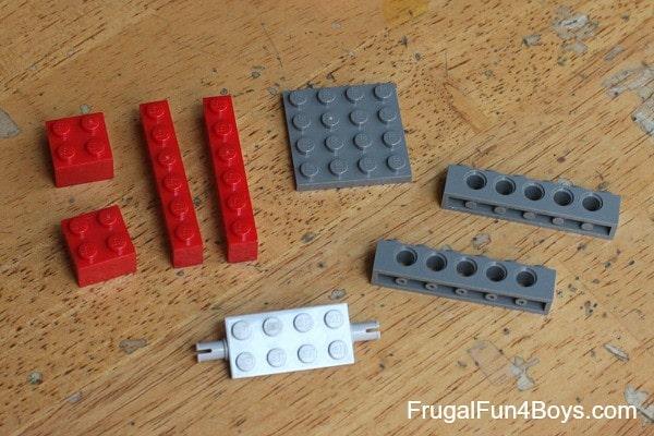 Pieces needed to make the door