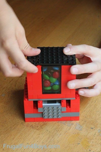 Put a lid on your sweets in your lego candy dispenser.