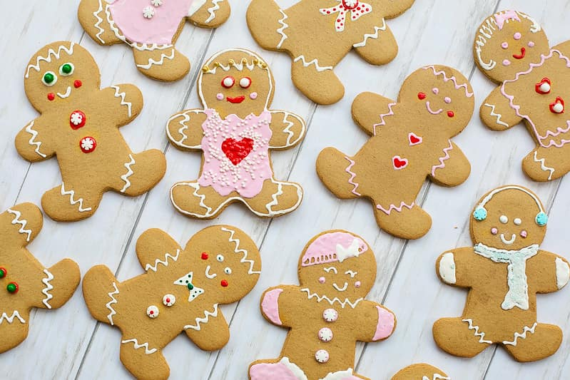Decorated gingerbread men as a gingerbread man craft