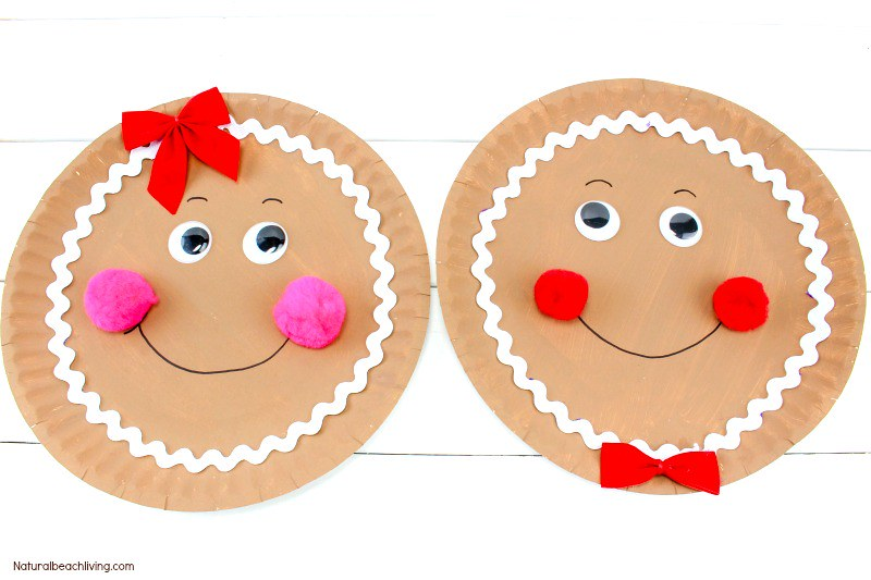 Gingerbread Man Plate Gingerbread Man Craft