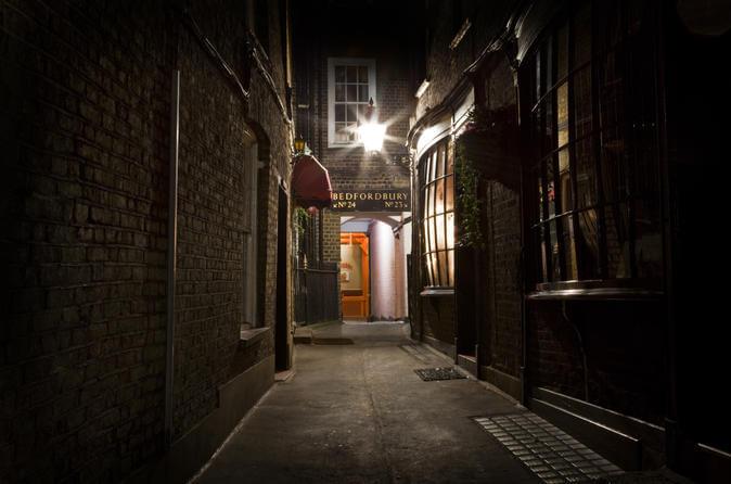 darkened alley on a ghost walk tour