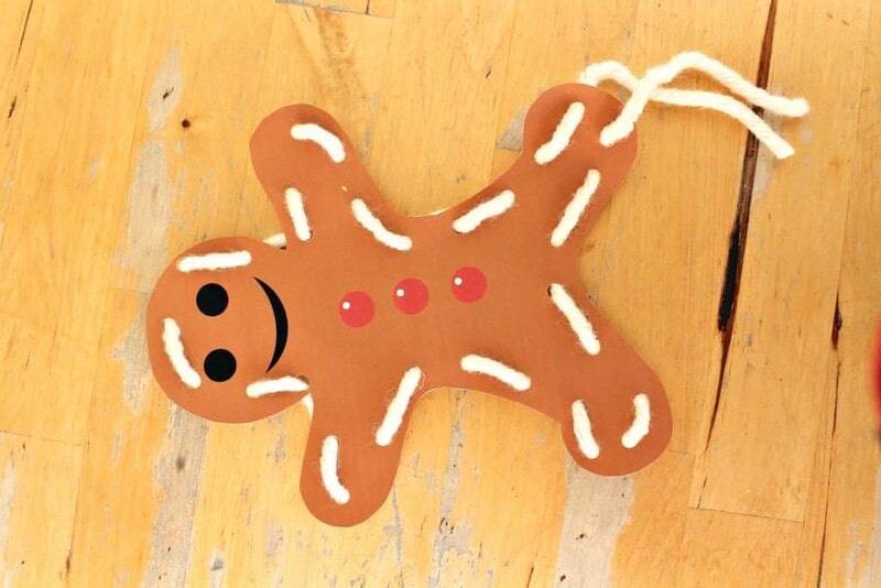 Gingerbread Man Lacing Card Gingerbread Man Craft