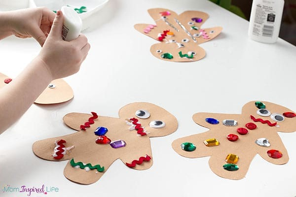 Paper Gingerbread Men Gingerbread Man Crafts