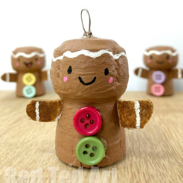 Gingerbread Man Ornament Gingerbread Man Crafts
