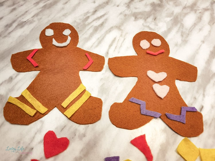 Fuzzy Felt Gingerbread Men Gingerbread Man Crafts