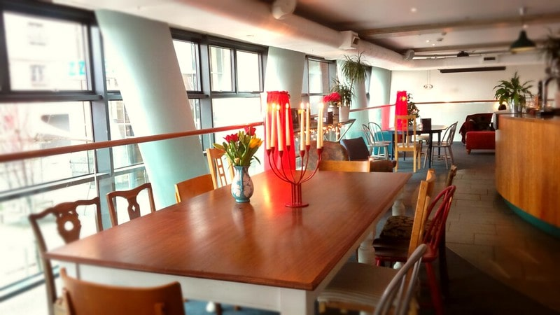 Interior of Hemma, a child-friendly restaurant in Edinburgh