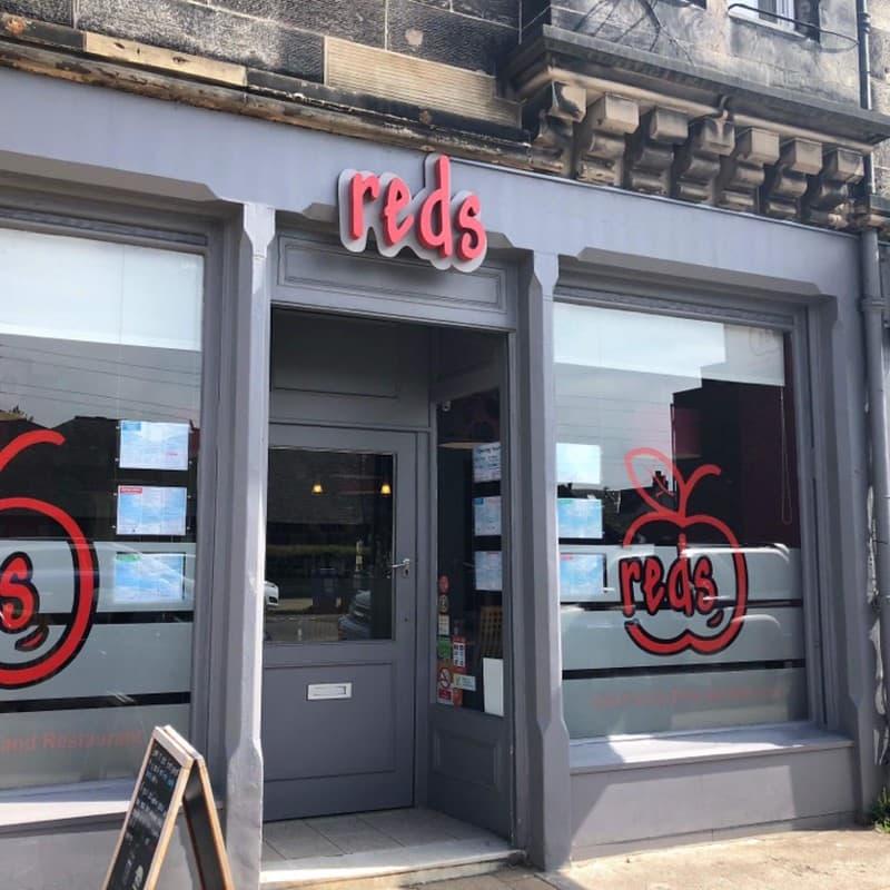 Exterior of Reds, a child-friendly restaurant in Edinburgh
