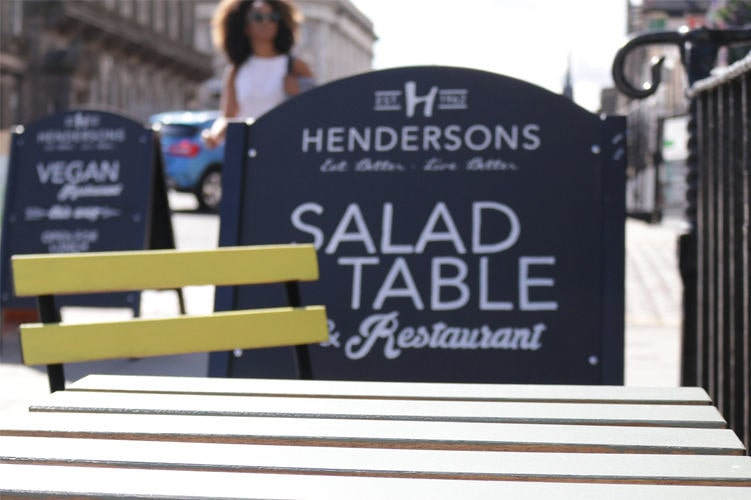 Exterior of Henderson's Salad Table, a child-friendly restaurant in Edinburgh