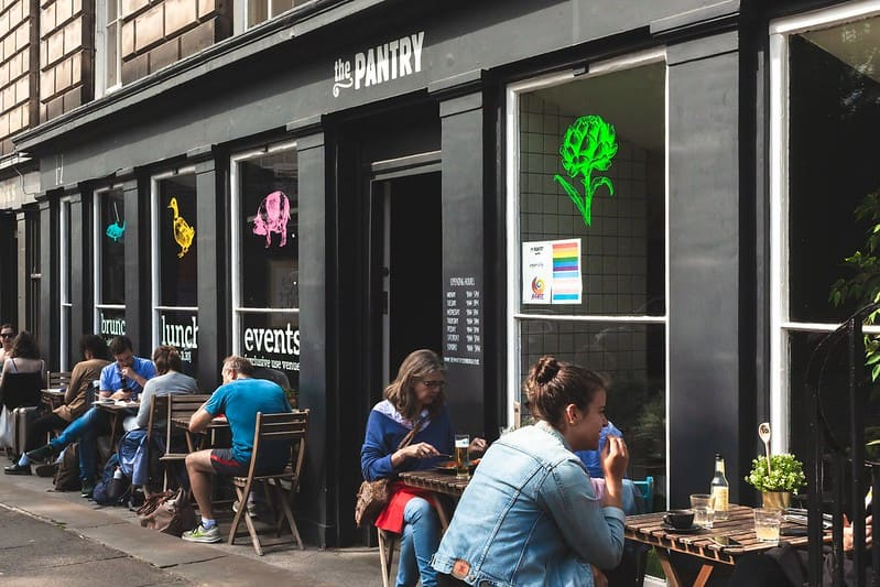 Exterior of The Pantry, a child-friendly restaurant in Edinburgh