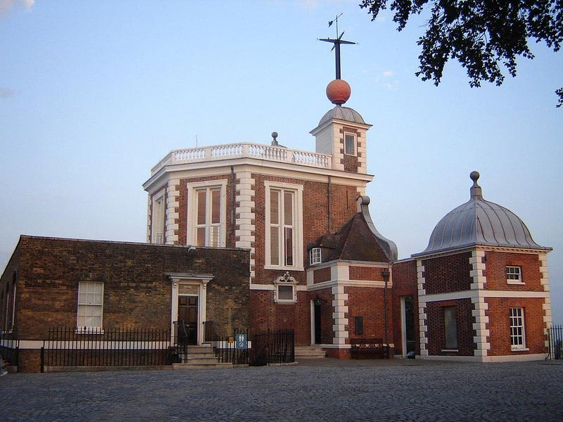 A front view of the Royal Observatory Greenwich.