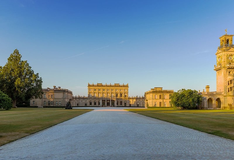 Exterior of Cliveden House in Berkshire, one of our favourite luxurious family spas in the UK.