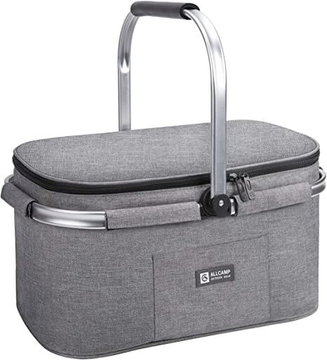 grey picnic holdall by ALLCAMP