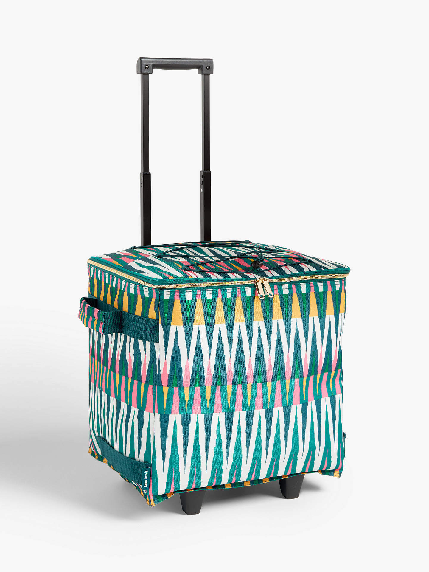 patterned wheelable picnic hamper