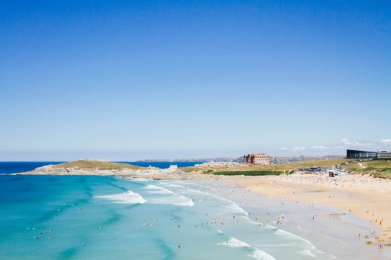 The beach at The Esplande in Cornwall is perfect for family holidays with teenagers