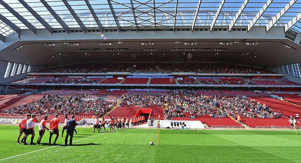 Anfield Stadium on match day.