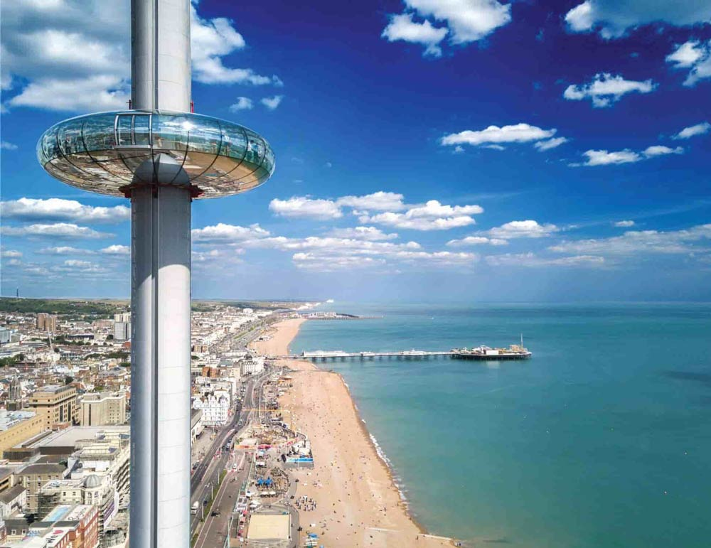 Views of Brighton from British Airways i360.