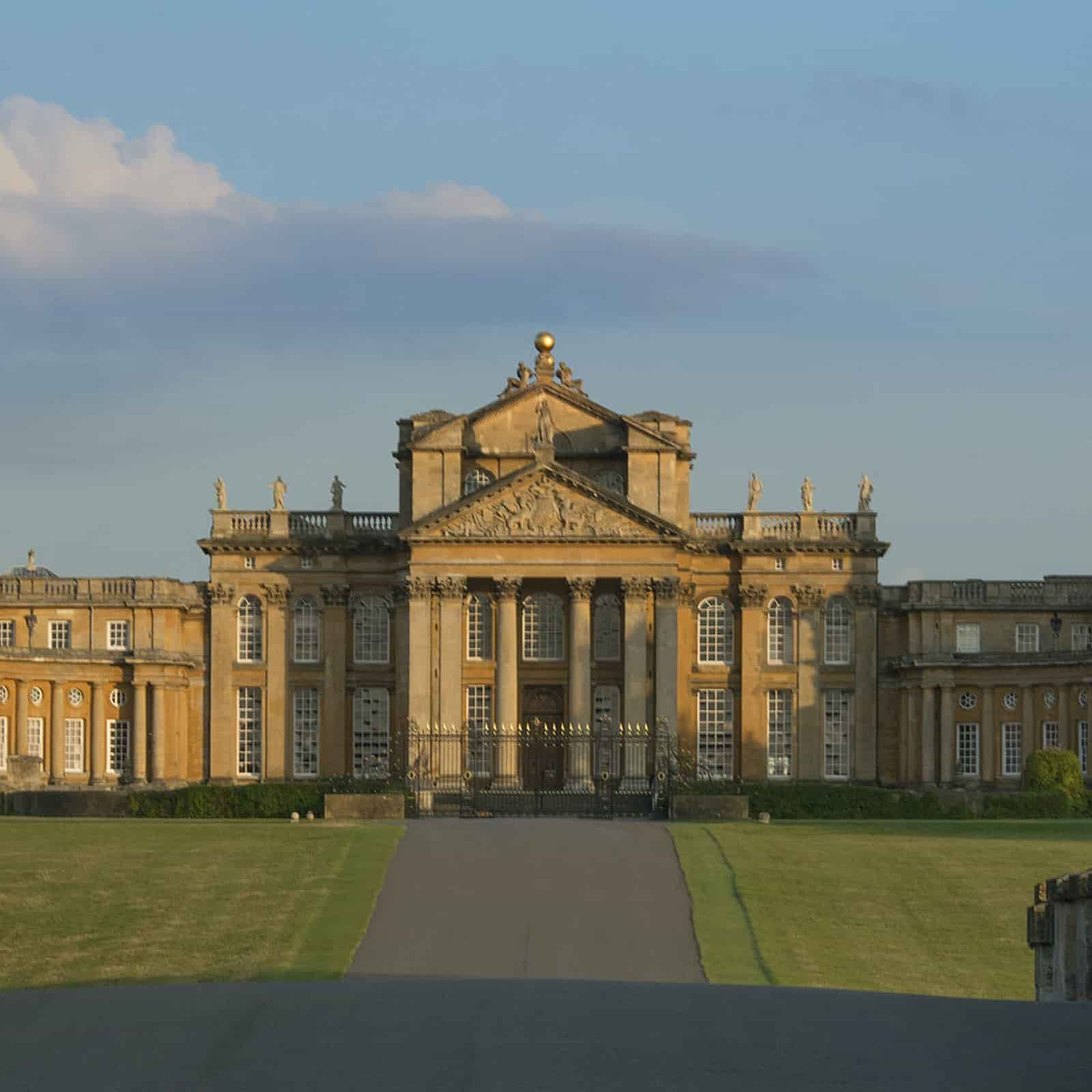 Blenheim Palace exterior on a sunny day.